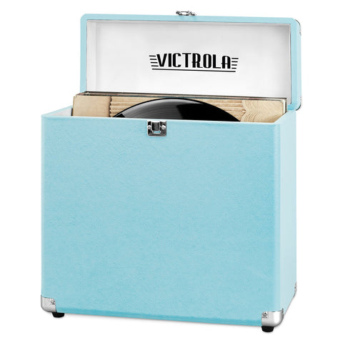 Victrola Storage case for Vinyl Turntable Records, Turquoise Main