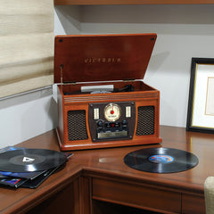 Victrola 7-in-1 Wooden Record Player