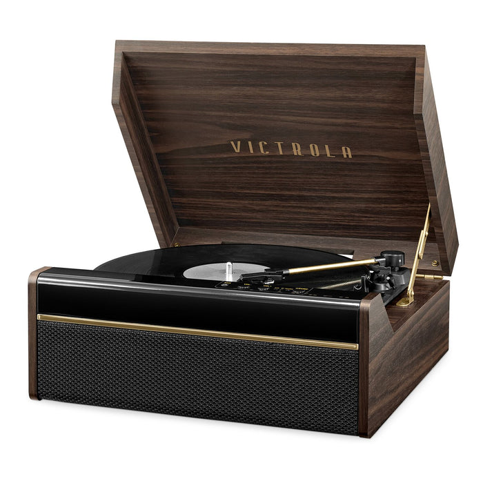 Victrola 3-in-1 Avery Bluetooth Record Player with 3-Speed Turntable, Espresso