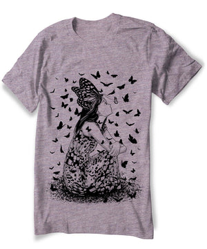 Anime Butterfly Girl T-shirt