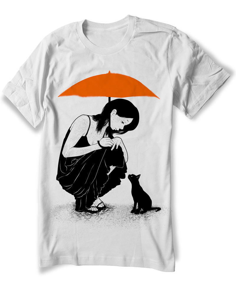 anime-girl-cat-rain-t-shirt-grey