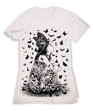 anime tshirt butterfly