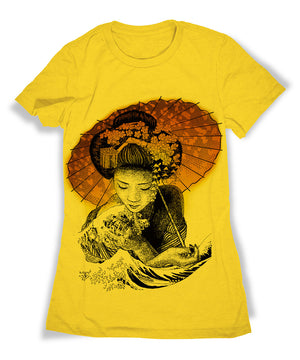 Great Wave Geisha T-Shirt