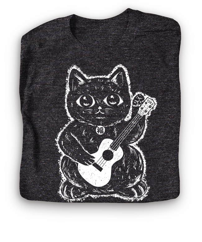 Lucky Cat Ukulele Shirt