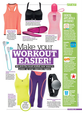 Fit & Well Magazine review of ZZ Erin top and Ezsther capris