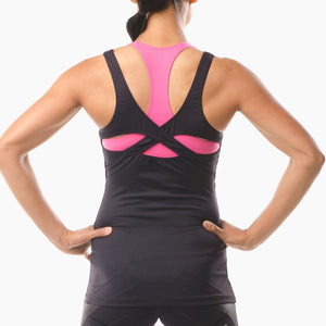 Performance Sportswear black vest top great for running yoga pilates and the gym