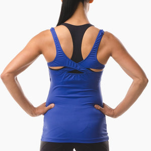 Performance Sportswear blue vest top great for running yoga pilates and the gym