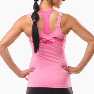 Performance Sportswear pink vest top great for running yoga pilates and the gym