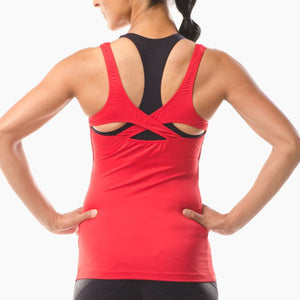Performance Sportswear red vest top great for running yoga pilates and the gym