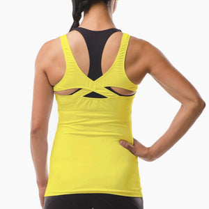 Performance Sportswear yellow vest top great for running yoga pilates and the gym