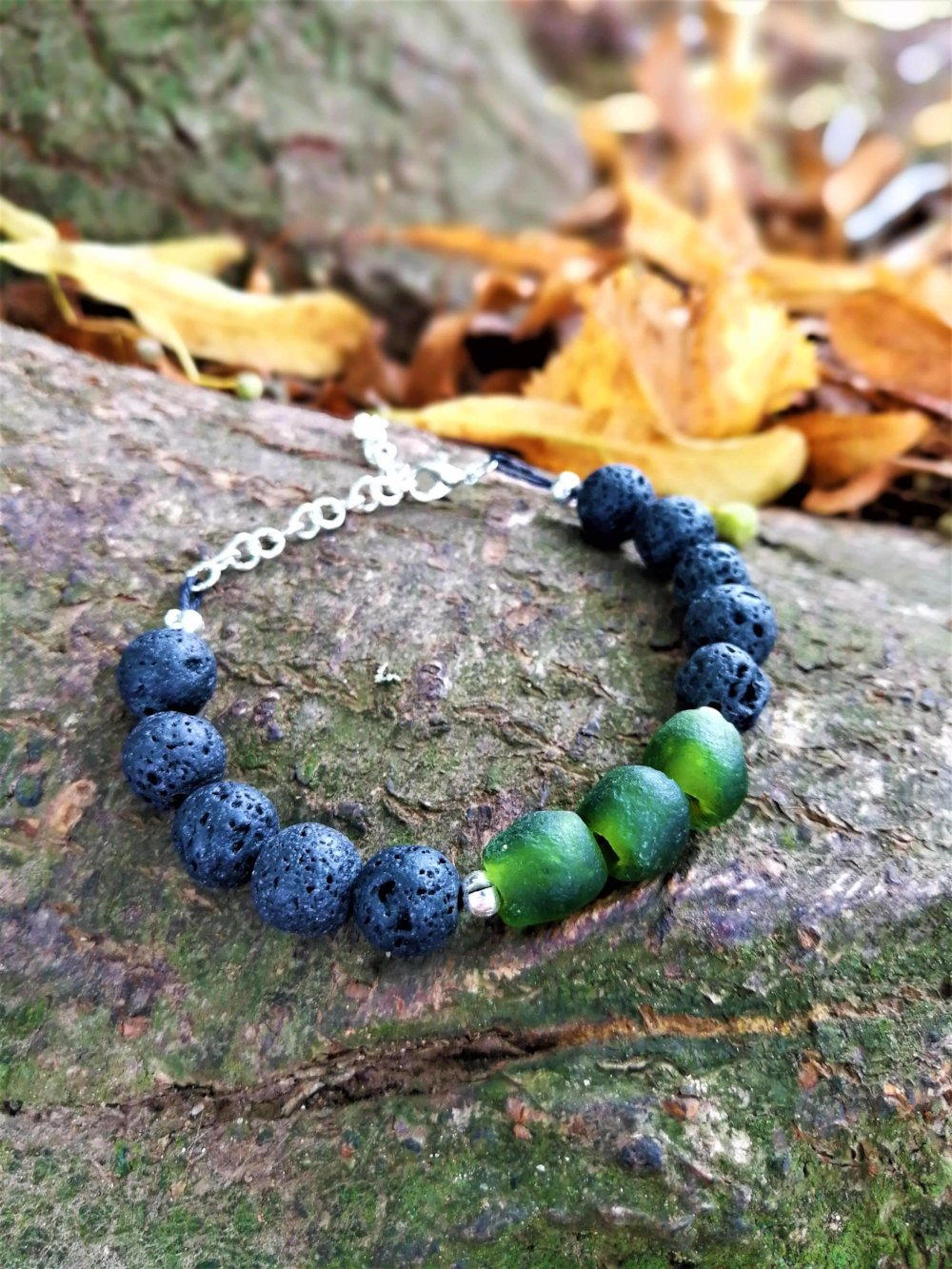 Naked Beads Earth Stone and Lava Bead Bracelet