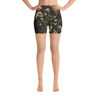 APER Military Camo Compression Shorts