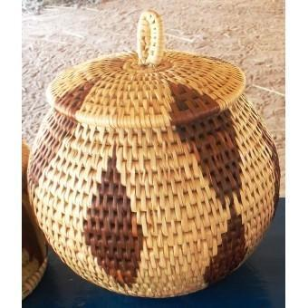 Med lidded jewellery basket