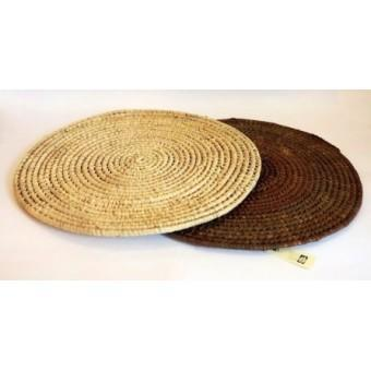 Palm leaf round table mats