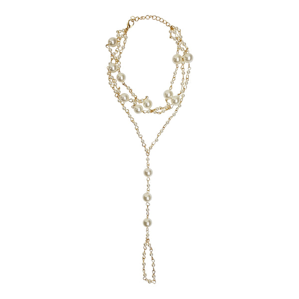 Pearl & Gold Foot Chain