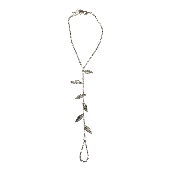 Silver Leaf Foot Chain