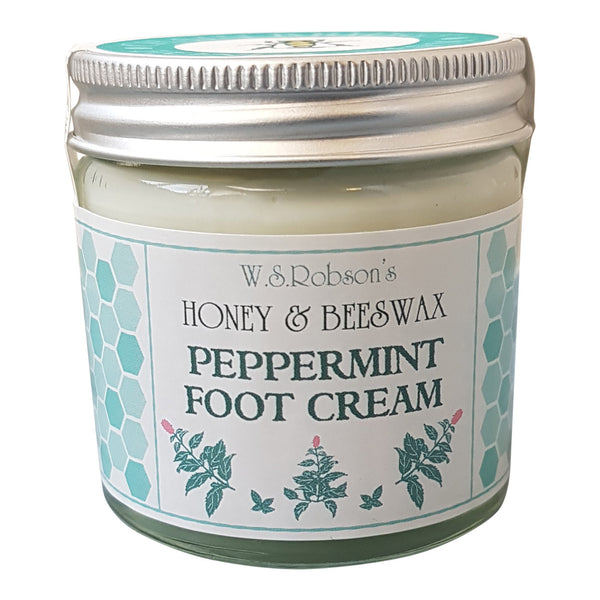W S Robsons Honey & Beeswax Peppermint Foot Cream