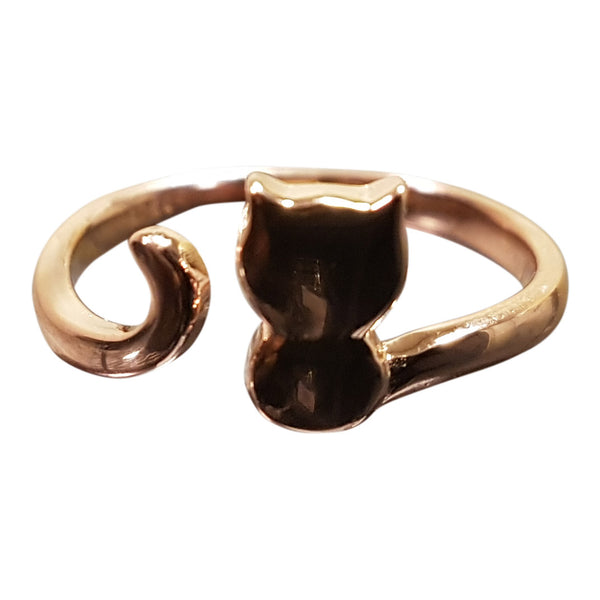 18k Rose Gold Plated Cat Toe Ring