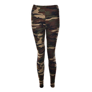 Camouflage Army Green Stretch Leggings - Fitness Fashion Europe