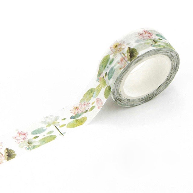 Lotus Pond Washi Tape 15mmx7m - The Washi Tape Shop