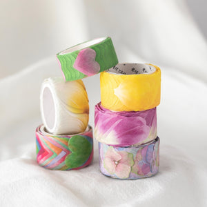 Purple Picturesque Washi Flower Petal Set | The Washi Tape Shop. Beautiful Washi and Decorative Tape For Bullet Journals, Gift Wrapping, Planner Decoration and DIY Projects