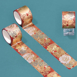 Tenohira Carnelian Gilded Washi Tape Set | The Washi Tape Shop. Beautiful Washi and Decorative Tape For Bullet Journals, Gift Wrapping, Planner Decoration and DIY Projects