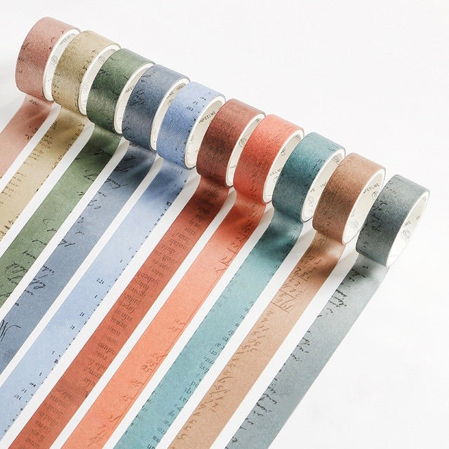 10 Piece Vintage Color Washi Tape Set | The Washi Tape Shop. Beautiful Washi and Decorative Tape For Bullet Journals, Gift Wrapping, Planner Decoration and DIY Projects