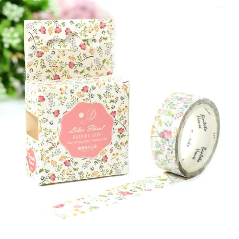 Pink Breeze Pastel Spring Washi Tape 15mmx7m - The Washi Tape Shop