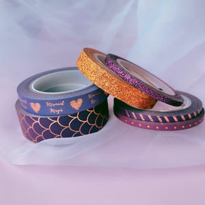 6 Piece Purple Mermaid Washi Tape Set | The Washi Tape Shop. Beautiful Washi and Decorative Tape For Bullet Journals, Gift Wrapping, Planner Decoration and DIY Projects