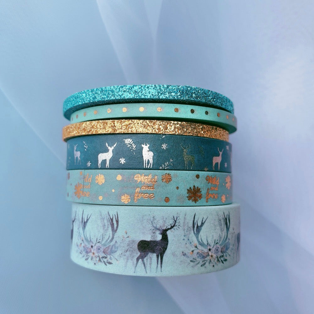 Blue Stripe Washi Tape 50mm x 5m - The Washi Tape Shop