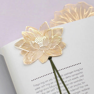Lotus 18K Gold Plated Bookmark | The Washi Tape Shop. Beautiful Washi and Decorative Tape For Bullet Journals, Gift Wrapping, Planner Decoration and DIY Projects