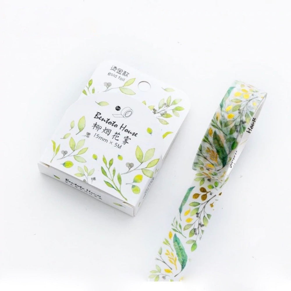 Keichitsu Green Gold Foil Wash Tape | The Washi Tape Shop. Beautiful Washi and Decorative Tape For Bullet Journals, Gift Wrapping, Planner Decoration and DIY Projects