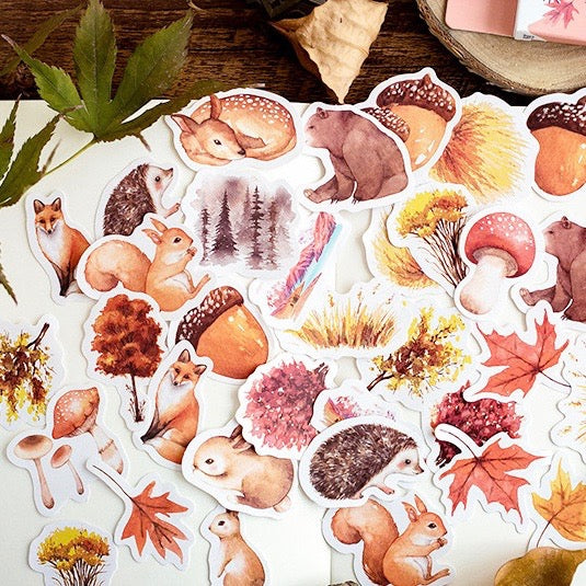 Autumn Feast Planner Sticker 46 Piece Set | The Washi Tape Shop. Beautiful Washi and Decorative Tape For Bullet Journals, Gift Wrapping, Planner Decoration and DIY Projects