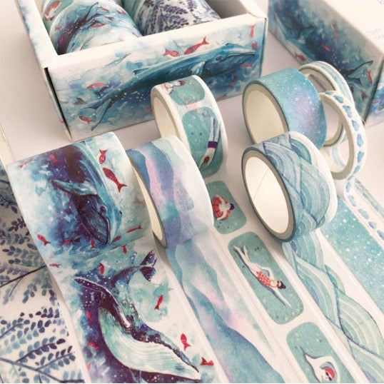 8 Piece Sea and Sky Washi Tape Set | The Washi Tape Shop. Beautiful Washi and Decorative Tape For Bullet Journals, Gift Wrapping, Planner Decoration and DIY Projects