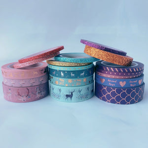 6 Piece Purple Mermaid Washi Tape Set
