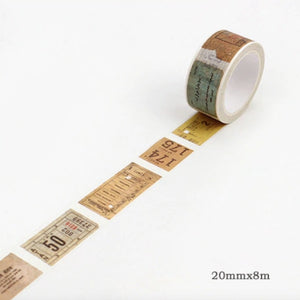 Postal Memory Washi Tape 20mmx8m | The Washi Tape Shop. Beautiful Washi and Decorative Tape For Bullet Journals, Gift Wrapping, Planner Decoration and DIY Projects