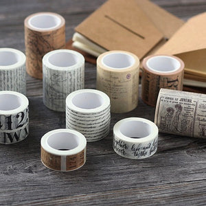 Letters Memory Washi Tape 15mmx8m - The Washi Tape Shop