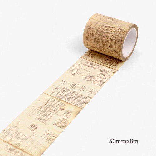 Mindmap Memory Washi Tape 50mmx8m | The Washi Tape Shop. Beautiful Washi and Decorative Tape For Bullet Journals, Gift Wrapping, Planner Decoration and DIY Projects