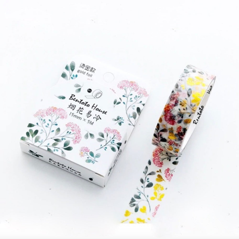 Arabesque Flower Gold Foil Wash Tape | The Washi Tape Shop. Beautiful Washi and Decorative Tape For Bullet Journals, Gift Wrapping, Planner Decoration and DIY Projects