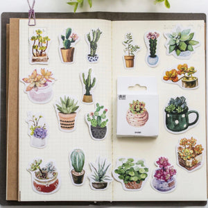 Succulents Delight Planner Sticker 50 Piece Set - The Washi Tape Shop