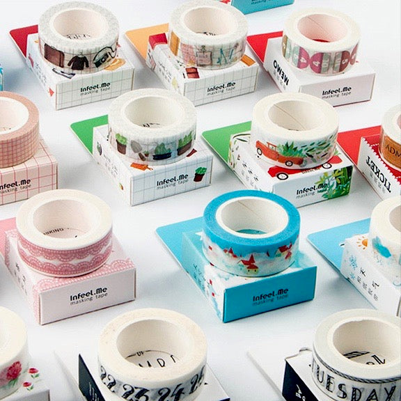 Sky Castle Washi Tape 15mmx7m - The Washi Tape Shop. Beautiful Decorative Tape For Bullet Journals Gift Wrapping Planner Decoration DIY Projects