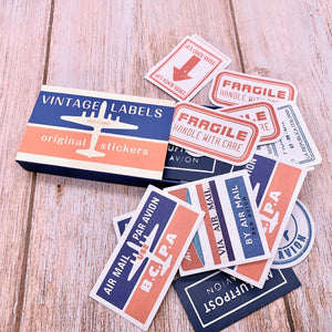 60 Piece Vintage Air Mail Stickers | The Washi Tape Shop. Beautiful Washi and Decorative Tape For Bullet Journals, Gift Wrapping, Planner Decoration and DIY Projects