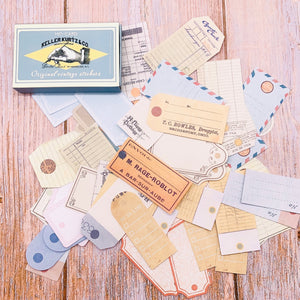 60 Piece Vintage Commerce Stickers | The Washi Tape Shop. Beautiful Washi and Decorative Tape For Bullet Journals, Gift Wrapping, Planner Decoration and DIY Projects