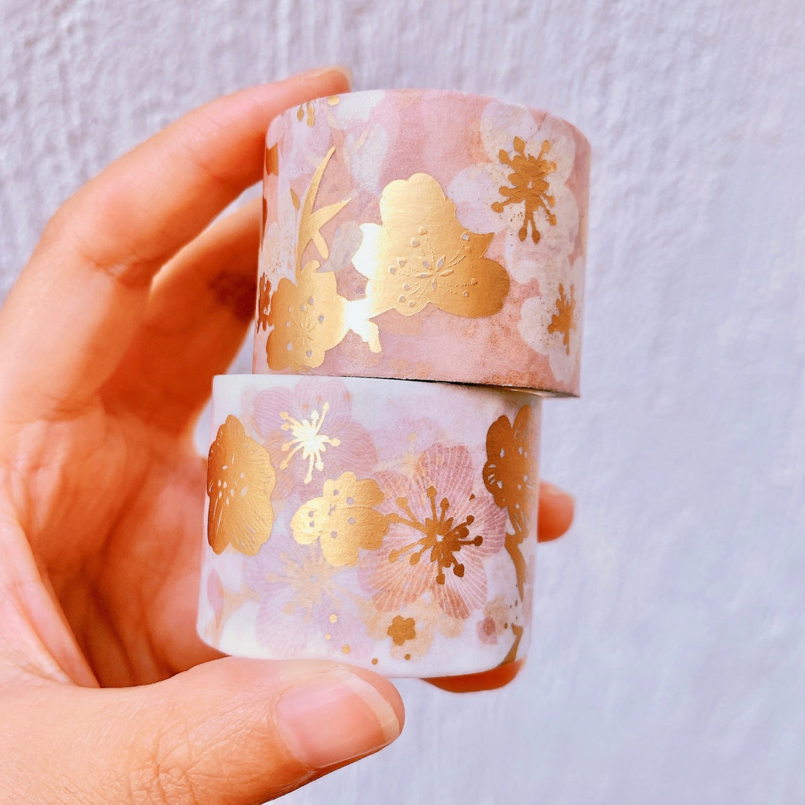 Tenohira Sakura Gilded Washi Tape Set | The Washi Tape Shop. Beautiful Washi and Decorative Tape For Bullet Journals, Gift Wrapping, Planner Decoration and DIY Projects