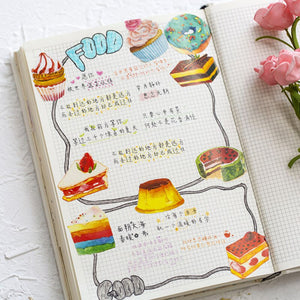 50 Piece Sweet Tooth Planner Sticker Set | The Washi Tape Shop. Beautiful Washi and Decorative Tape For Bullet Journals, Gift Wrapping, Planner Decoration and DIY Projects