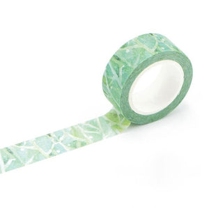 Green Oasis Washi Tape 15mmx7m | The Washi Tape Shop. Beautiful Washi and Decorative Tape For Bullet Journals, Gift Wrapping, Planner Decoration and DIY Projects