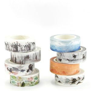 Sunset over Mountains Washi Tape 15mmx7m | The Washi Tape Shop. Beautiful Washi and Decorative Tape For Bullet Journals, Gift Wrapping, Planner Decoration and DIY Projects