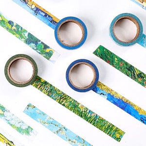 8 Piece Set Van Gogh Washi Tape 15mmx7mm | The Washi Tape Shop. Beautiful Washi and Decorative Tape For Bullet Journals, Gift Wrapping, Planner Decoration and DIY Projects