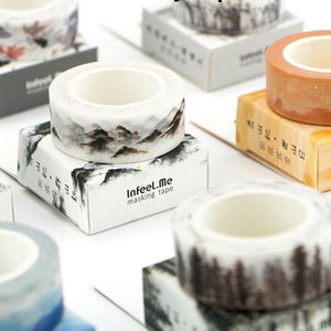 Hidden Sunset Washi Tape 15mmx7m | The Washi Tape Shop. Beautiful Washi and Decorative Tape For Bullet Journals, Gift Wrapping, Planner Decoration and DIY Projects