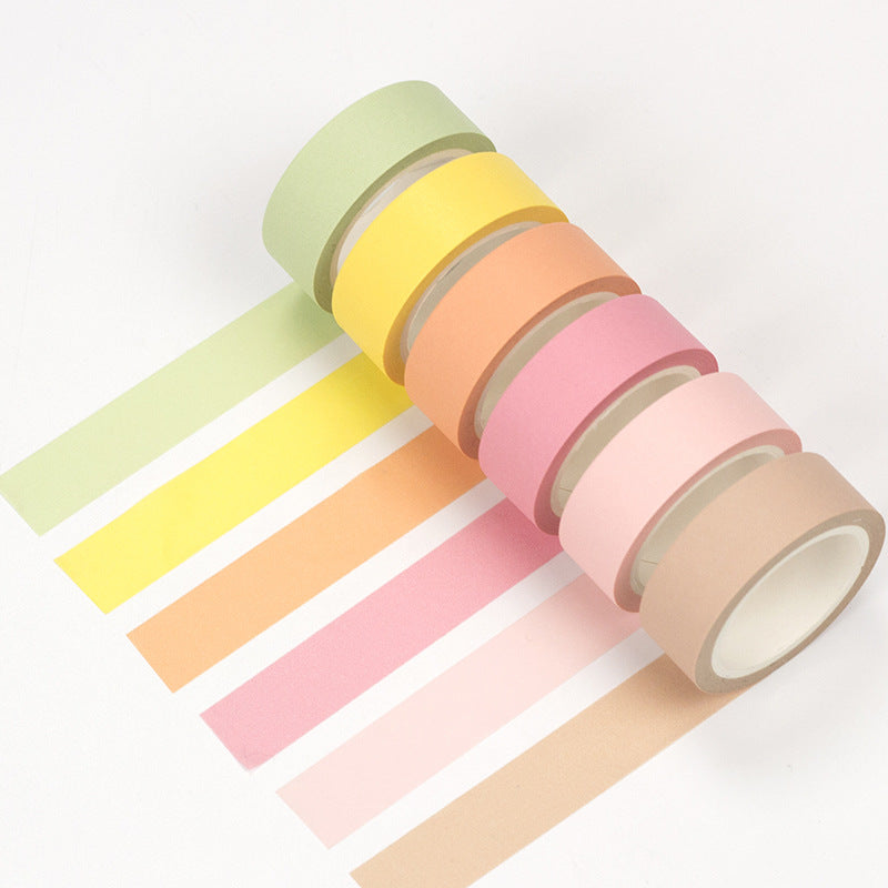 6 Piece Set Rainbow Solid colour Washi Tape 15mmx7m | The Washi Tape Shop. Beautiful Washi and Decorative Tape For Bullet Journals, Gift Wrapping, Planner Decoration and DIY Projects